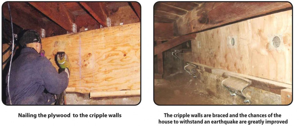 Weinstein Construction's process to reinforcing a cripple wall.