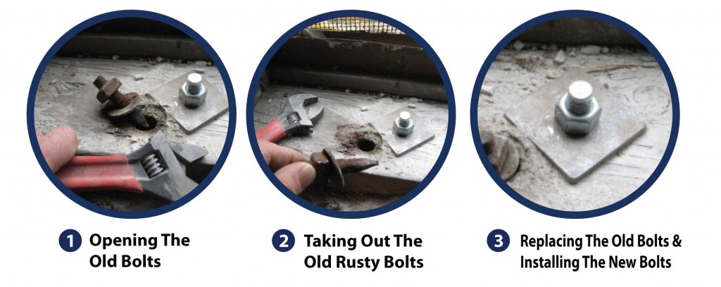 house bolting maintenance can be done easily by replacing the bolts.